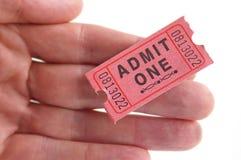 билет держателя Стоковые Фото