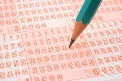 билет карандаша лотереи Стоковая Фотография RF