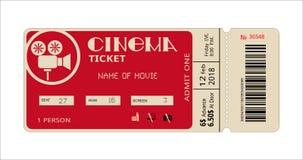 Билет кино, талон фильма для фильма иллюстрация вектора