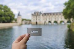 Билет к замку Chenonceau в Loire Valley - Франции стоковое изображение