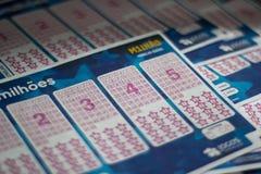 Билет лотереи Euromillions стоковые изображения