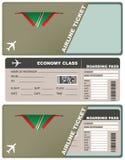 Билет на самолет в Доминике иллюстрация штока