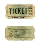 билет партии grunge стоковые изображения rf
