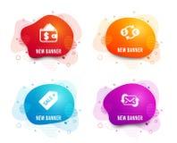 Билет продажи, значки бумажника и обмена валюты Освежите знак почты r бесплатная иллюстрация