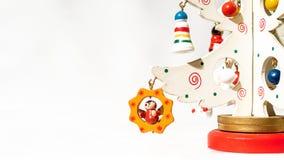 Билет рождества украшенный с игрушкой стоковая фотография rf