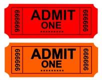 билет Стоковые Изображения RF