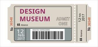 билет meseum иллюстрация вектора
