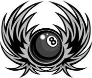 биллиарды шарика 8 крылов иллюстрации Стоковые Фото