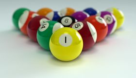 биллиарды шариков Стоковое фото RF