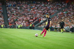 БИЛЬБАО, ИСПАНИЯ - 28-ОЕ АВГУСТА: Jordi Alba в спичке между атлетическим Бильбао и FC Barcelona, отпразднованными 28-ого августа  Стоковое Фото