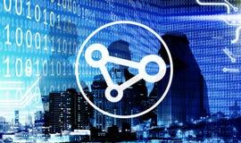 Бинарного кода делить бизнесмены концепции технологии Стоковые Фотографии RF