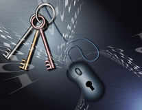 бинарные ключи Стоковое Фото