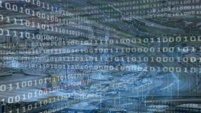 Бинарные коды и город видеоматериал