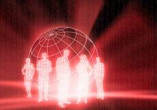 бинарные люди Кода дела Стоковые Фото