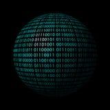 Бинарный глобус Стоковое Фото
