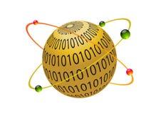 бинарный глобус Бесплатная Иллюстрация