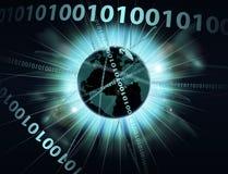 Бинарный глобус данным по информации Стоковое Изображение