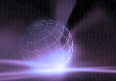 бинарный закодированный мир иллюстрация вектора