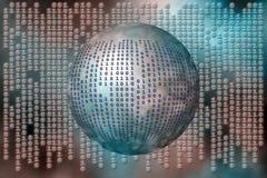 бинарный Код любит матрица Стоковое Изображение