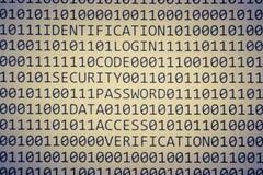 бинарный Код немногие слова Стоковые Фото