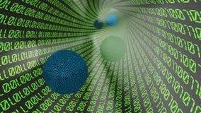 бинарный Код 3d Стоковая Фотография RF