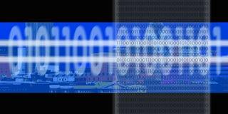 бинарный цифровой поток Стоковая Фотография