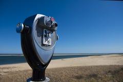 Бинокли пляжем маяка Chatham Стоковые Изображения RF