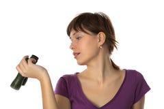 бинокли рассматривают девушку Стоковая Фотография RF