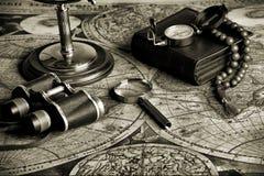 бинокли ретро стоковое изображение