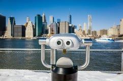 Бинокулярное в взгляде парка Бруклинского моста Нью-Йорка Стоковое Изображение