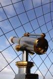 Бинокулярный на eiffeltower в Париже Франции Стоковая Фотография RF
