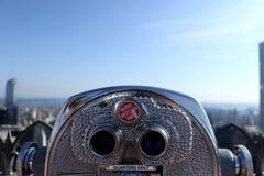 Бинокли горизонта Нью-Йорка Стоковое Фото