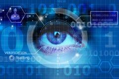 Биометрический глаз скрининга бесплатная иллюстрация