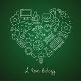 биохимии Значки в форме сердца иллюстрация вектора