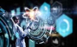 Биохимия и технологии Мультимедиа Стоковые Изображения