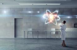 Биохимия и технологии Мультимедиа Стоковое Фото