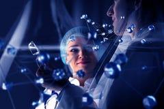 Биохимия и технологии Мультимедиа стоковое изображение rf