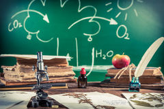 Биология и фотосинтез урока Стоковое Изображение
