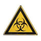 Био опасность Желтый треугольник Стоковая Фотография