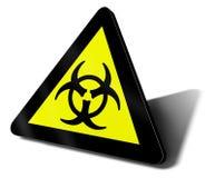 био предупреждение знака опасности опасности Стоковая Фотография RF