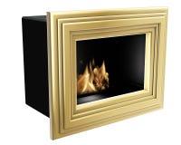 Био рамка золота камина Стоковое Фото