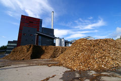 био хранение силы завода топлива деревянное Стоковые Фотографии RF