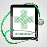 Биполярное расстройство представляет маниакальный упадочный психоз иллюстрация штока