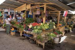 Биржа сельскохозяйственных товаров в Ibarra эквадоре Стоковое Изображение