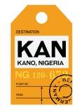 Бирка багажа авиапорта Kano бесплатная иллюстрация