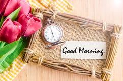 Бирка бумаги доброго утра Стоковая Фотография