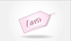 Бирка влюбленности Стоковое фото RF