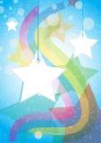 бирка звезды предпосылки Стоковая Фотография RF