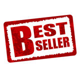 Бирка красного цвета самого лучшего продавца Стоковые Фотографии RF