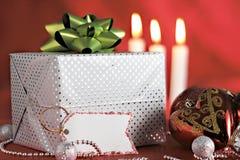 бирка пакета подарка украшений рождества Стоковая Фотография RF